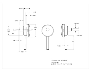 universal dial test tracing template